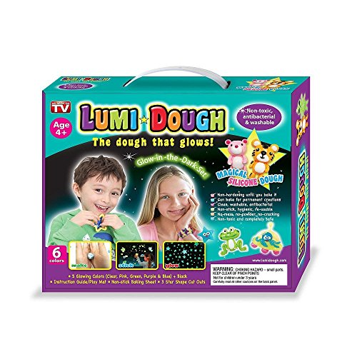 Glow Dough (Lumi Dough - The Magical Silicone Doh That Glows In The Dark, Non-Toxic Play)