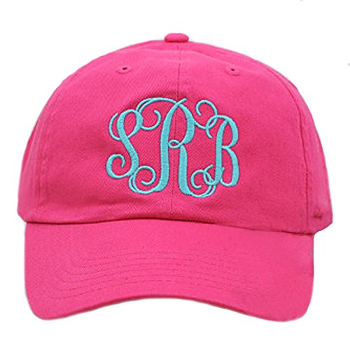 Tiny Expressions Womens Monogram Baseball Hat | 30 Plus Hat & Thread Colors | Monogrammed Gifts for Women