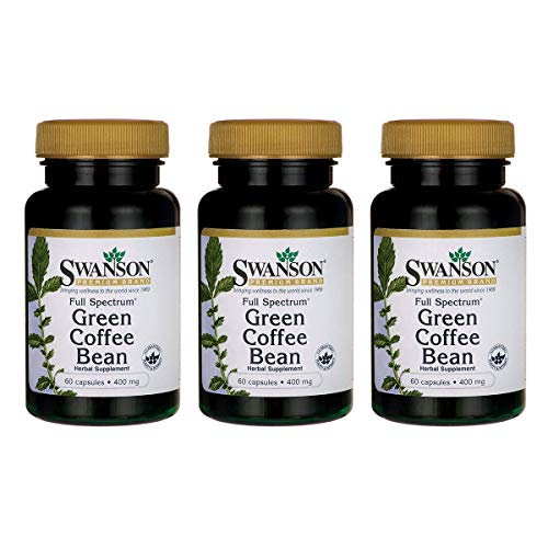 Swanson Full Spectrum Green Coffee Bean 400 Milligrams 60 Capsules (3 Pack)