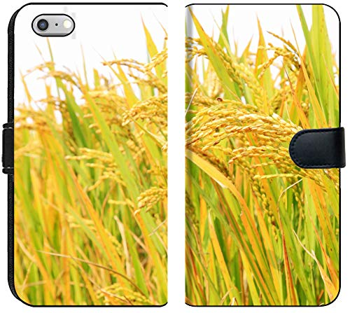 Liili iPhone 6 Plus and iPhone 6S Plus Flip Micro Fabric Wallet Case Image ID: 24704504 Harvest of Rice Grain in Rural in Autumn North China