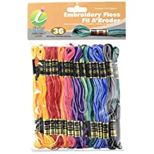 Iris 36-Pack Embroidery Floss-Pack, 8m, Variegated Colors
