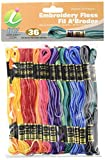 Iris 36-Pack Embroidery Floss Pack, 8m, Variegated