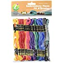 Iris 36-Pack Embroidery Floss Pack, 8m, Variegated Colors