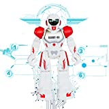 robots that you control - Remote Control RC Robots Toys Think Wing Interactive Funny machine with LED Eyes, Speaking, Singing, Dancing, Walking, Sliding, A Good Beginner Programmable Robot for Young Children (Red)