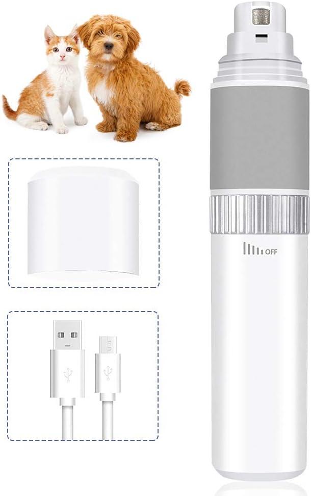 Amoladora de uñas para mascotas, sin dolor, recargable, usb