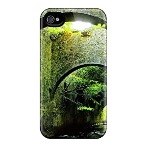 Awesome Bridge Over The Forest River Flip Case With Fashion Design For Iphone 4/4s