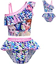 N /A Girls Two-Pieces Swimsuit Kids Tankini Swimwear Bikinis Set Summer Beach Bathing Suits