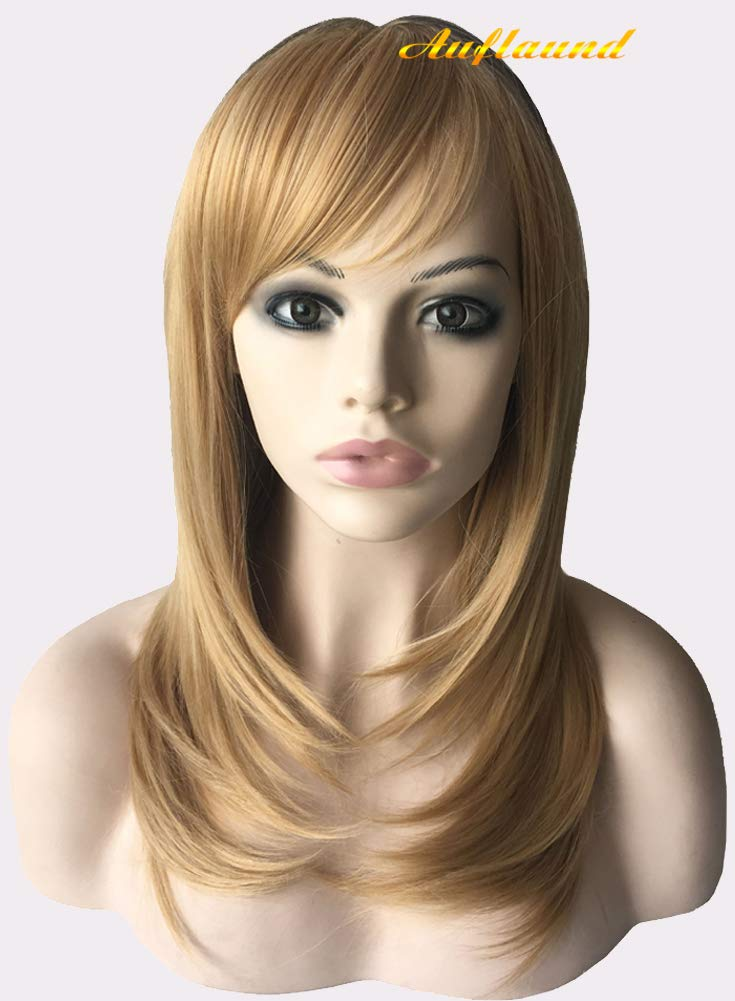 Shoulder Length Bob Straight Wig - AmorWig Natural Middle Length Blonde Hair Wigs for Women + Wig Cap AmorWigAM WGS-09