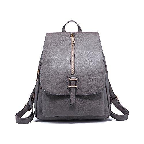 Tisdaini Chica mochilas Moda viaje mochila casual bolso bandolera escolar Dama bolsa Gris