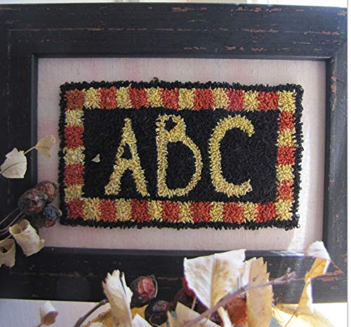 Punch Needle Embroidery ABC Framed Piece