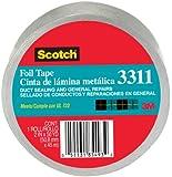 Scotch Aluminum Foil Tape 3311 Silver, 2 in x 10 yd 3.6 mil (Pack of 1)