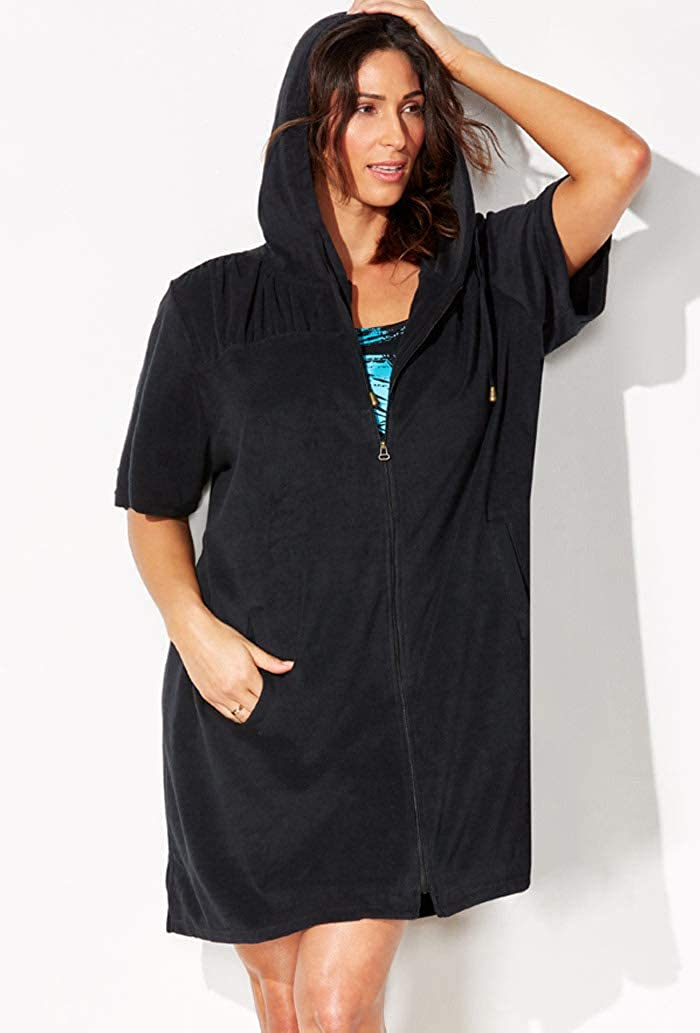 Swimsuits for All Womens Plus Size Terry Swimsuit Cover Up