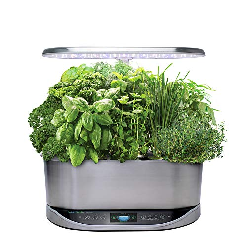 AeroGarden Bounty Elite - Stainless Steel (Alexa-Enabled)
