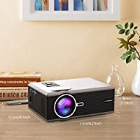 Amazon.com: Proyector portátil, proyector FLOUREON Mini Home ...