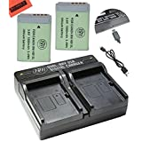 2-Pack of NB-13L Batteries and USB Dual Battery Charger for Canon PowerShot G5 X, G7 X, G7 X Mark II, G9 X, SX720 HS Digital Camera