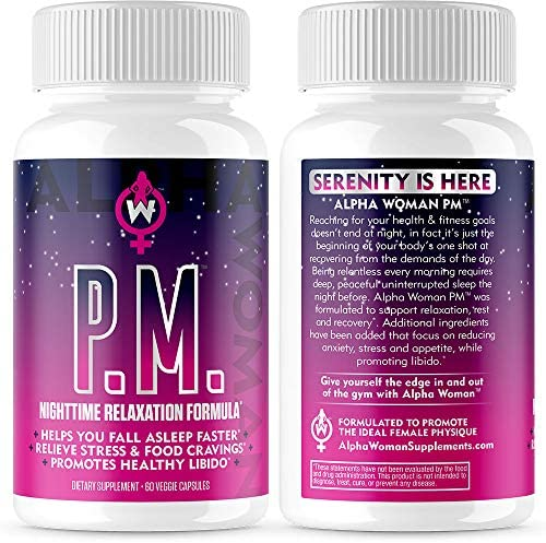 Alpha Woman PM - Nighttime Relaxation Formula - Relieve Stress, Reduce Food Cravings, Promote Healthy Libido - Vegan & Keto Safe -60 Capsules 2