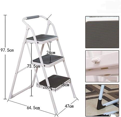 N/A Escalera-Casa, Engrosamiento Plegable, Escalera Interior, Escalera Multifunción de Tres Pasos, Escalera Móvil, Escalera Mecánica, Escalera de Escalada,café,Un tamaño: Amazon.es: Deportes y aire libre