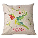 Vanki cute bird serial soft Linen Square Decorative - Best Reviews Guide