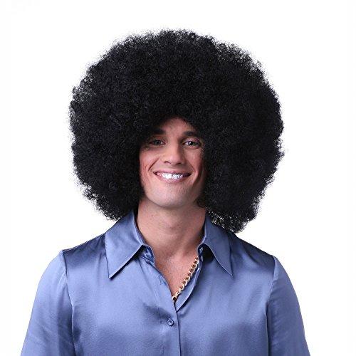California Costume Super Jumbo Afro Wig Costume Accessory, Black, One Size