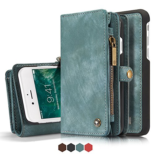 Leather Wallet Magnetic Phone Case Detachable Case with Card Holder Flip Cover for IPhone XS, - Wallet Fire Phone Leather Case
