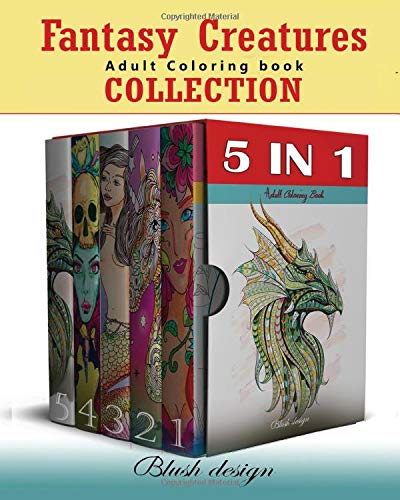 Amazon.com: Fantasy Creatures: Adult Coloring Book Collection (Stress  Relieving Creative Fun Drawings To Calm Down, Reduce Anxiety & Relax.Great  Christmas Gift Idea For Men & Women 2020-2021) (9798621153199): Design,  Blush: Books