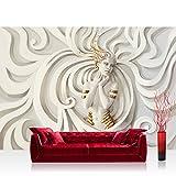 Vlies Fototapete 400x280 cm PREMIUM PLUS Wand Foto Tapete Wand Bild Vliestapete - A PERFECT WOMAN - Frau Erotik Gold elegant 3D Wand - no. 045