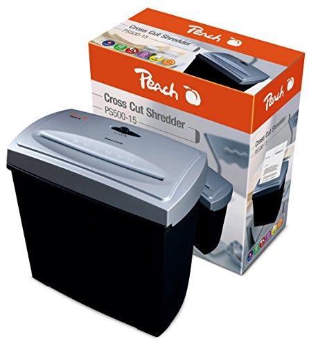 Peach PS500-15 Partikelschnitt Aktenvernichter, 5 Blatt - für anspruchsvolle Privatkunden und kleine Büros