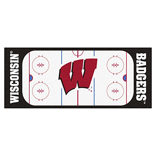 NCAA University of Wisconsin Badgers Rink Non-Skid Mat Area Rug ()