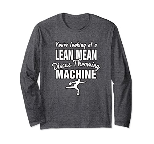 Unisex Lean Mean Discus Throwing Machine- Track and Field Shirt Medium Dark Heather