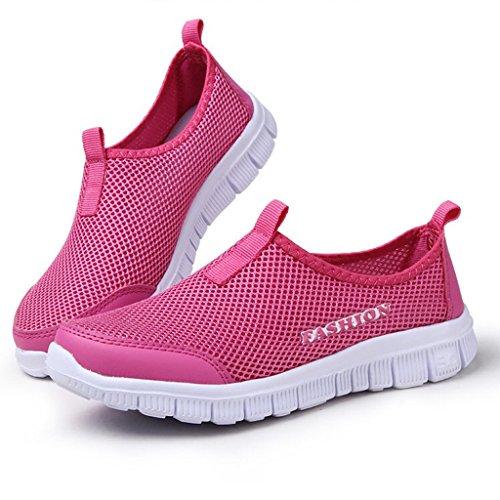 Course Hommes Rose Mesh Sport Chaussures Rouge Eagsouni Femme Respirante Sneakers Outdoor Athletic De IAP5xIq8Ow