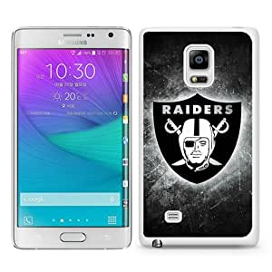 WOSN Oakland Raiders 20 White Case Cover for Samsung Galaxy Note Edge