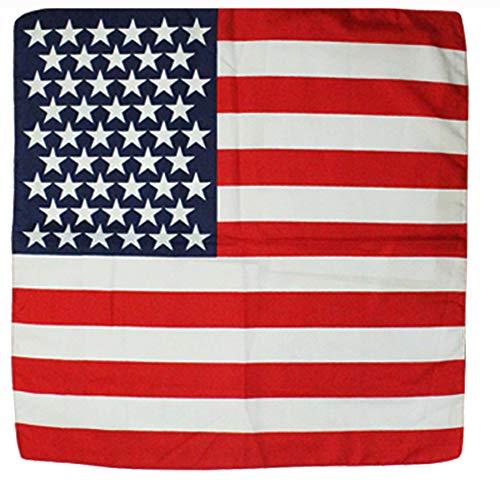 Fair Deal US 12 Pack Country Flag Print Bandanas (USA/12PACK)