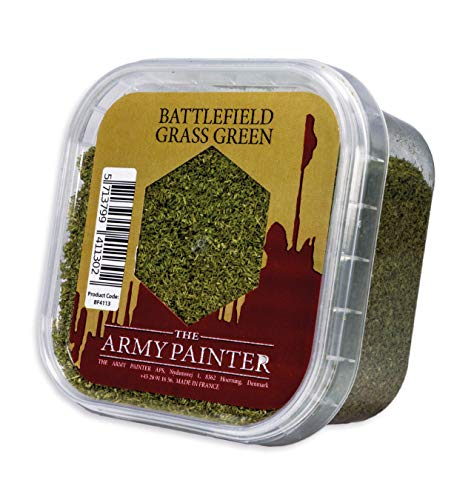 The Army Painter Battlefield Essential Series: Battlefield Grass Green for Miniature Bases and Wargame Terrains - Static Grass for Bases of Miniature Toys, 150 ml (Scatter Grass)