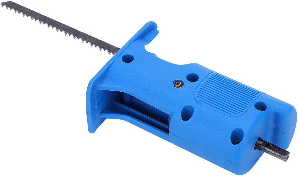 Sierra alternativa el/éctrica Sierra caladora Accesorio de herramienta de taladro el/éctrico para corte de madera y metal ABS + Acero de alta velocidad