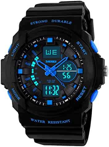 Kid LED Watch Child Boy Girl Sport Multi Function Digital Waterproof Electronic Quartz Watches Blue