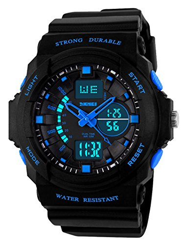 Plastic Transparent Watch (Kid LED Watch Child Boy Girl Sport Multi Function Digital Waterproof Electronic Quartz Watches Blue)