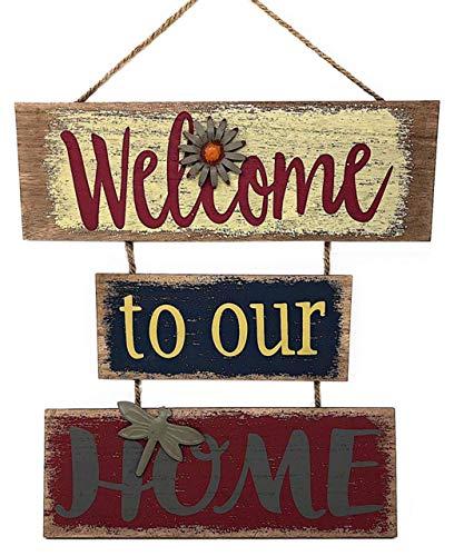 """Welcome Home Sign for Wall Front Door Decor Indoor Outdoor 16"""" x 21"""""""