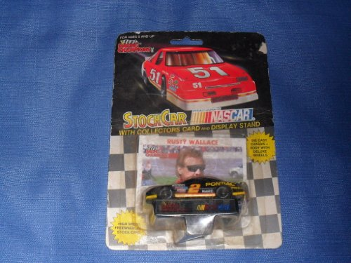 1991 NASCAR Racing Champions . . . Rusty Wallace #2 Mobil 1 Pontiac Grand Prix 1/64 Diecast . . . Includes Collector's Card and Display Stand - Rusty Wallace Nascar Card
