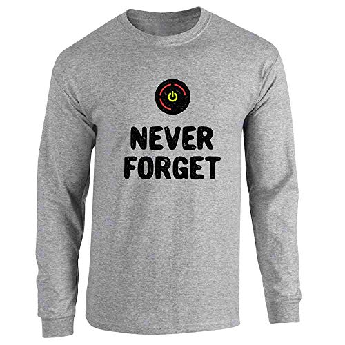 Red Ring of Death Never Forget XB Gamer Sport Grey 2XL Long Sleeve T-Shirt (My Xbox Has The Red Ring Of Death)