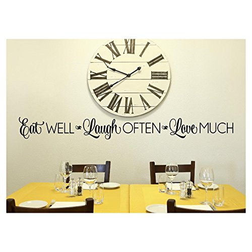 Wall Decal Lettering Sticker (Eat Well, Laugh Often, Love Much Vinyl Lettering Wall Decal Sticker (6