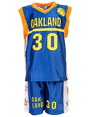 24brands - Jungen Sport Basketball Baseball Shirt Trainings Trikot Teamfarben Chicago Boston Trikot - 2942, Größe:116-122;Farbe:Oakland