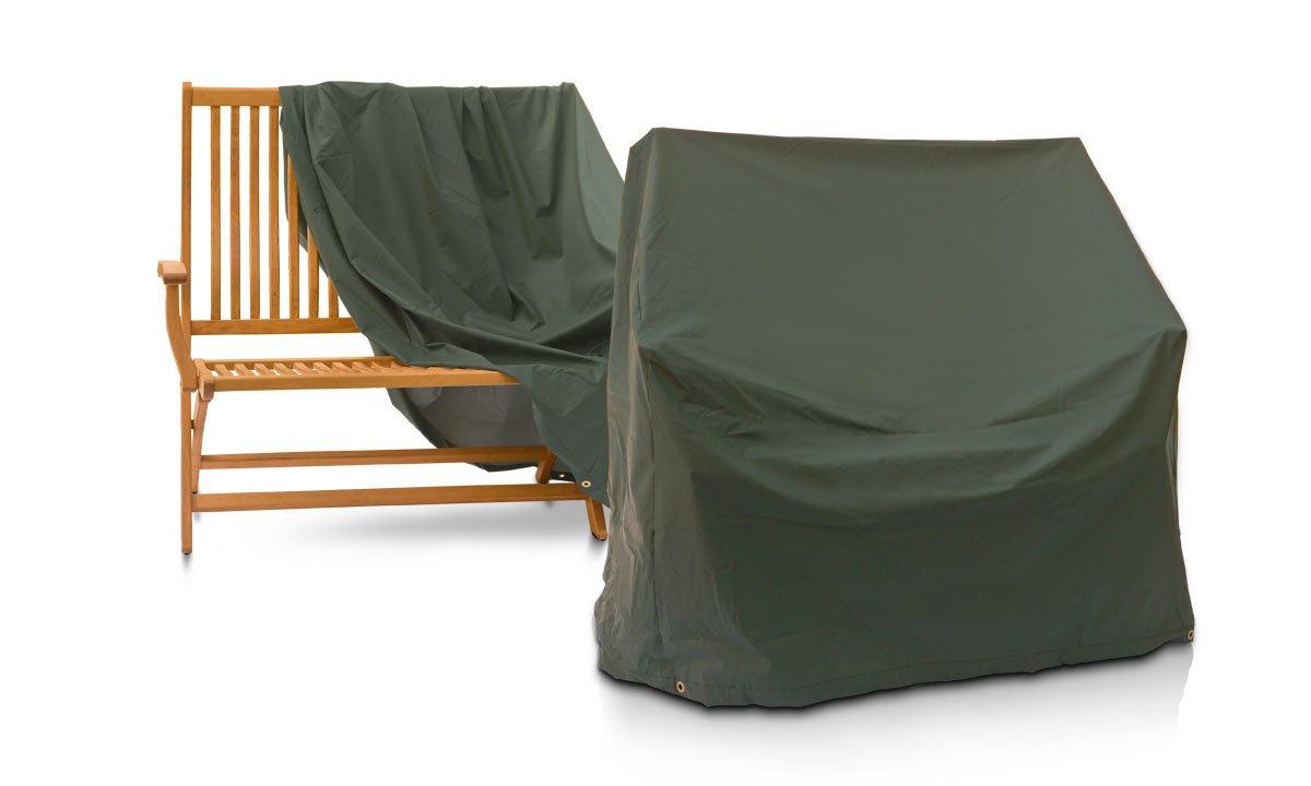 Eigbrecht 146253 Wood Cover Abdeckhaube Schutzhülle für Sitzbänke grün 180x70x90/65cm