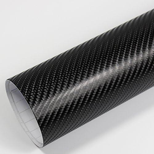 Rapid Teck Premium - Película Auto sin Burbuja con Conductos de Aire para Coche Laminado y 3D Pegar en Mate Brillo y Carbono - 4D Carbono Negro, 20m x 1,52 m: Amazon.es: Hogar