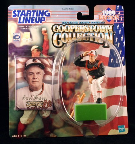 EARL WEAVER / BALTIMORE ORIOLES 1999 MLB Cooperstown Collection Starting Lineup Action Figure & Exclusive Trading Card