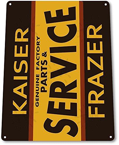 TIN SIGN: B165 Kaiser Frazer Parts Service Tin Metal Sign 100030641409