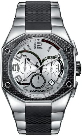equivocado Invitación creer  Amazon.com: Carrera Men's CW66441.47C052 Sporty Chronograph Silver Watch:  Watches