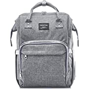 KiddyCare Diaper Bag Backpack, Multi-Function Waterproof Maternity Nappy Bags for Travel with Baby, Large Capacity, Stylish and Durable, Grey-2