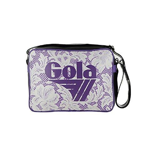 Viola Supporto Nero Bianco Gola Donne Bag Attraversato wnAx4pz