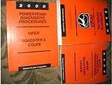2000 Dodge Viper Service Shop Repair Manual Set OEM 00 (service manual, and the body/powertrain diagnostics procedures service manuals.)