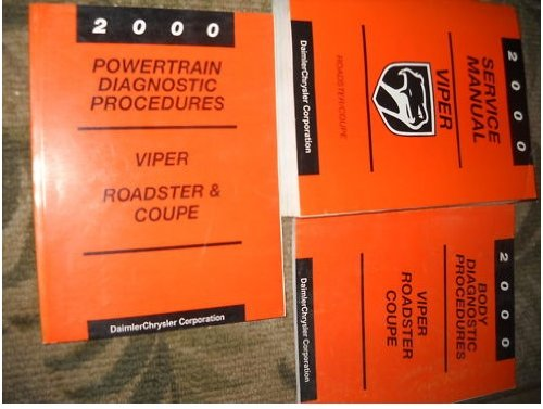 Chrysler Dodge Viper (2000 Dodge Viper Service Shop Repair Manual Set OEM 00 (service manual, and the body/powertrain diagnostics procedures service manuals.))